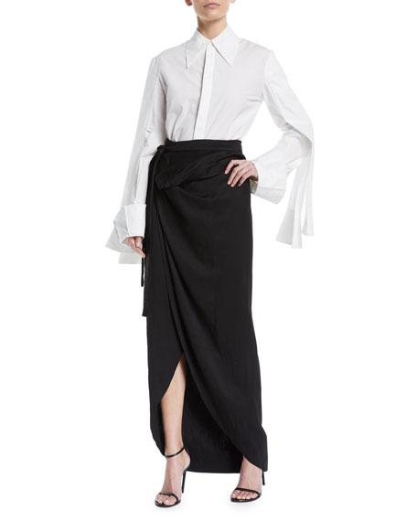 Shiny Wraparound Skirt