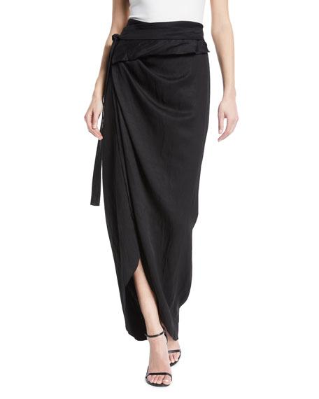 A.W.A.K.E. Shiny Wraparound Skirt