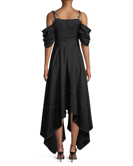 Audrey Cold-Shoulder Asymmetric Dress