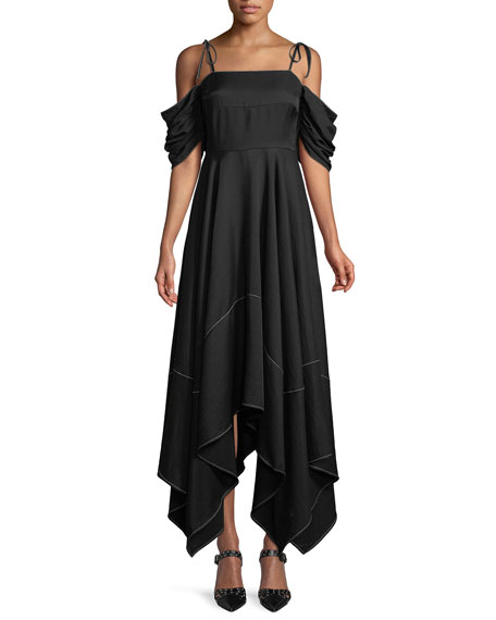 REJINA PYO Audrey Cold-Shoulder Asymmetric Dress