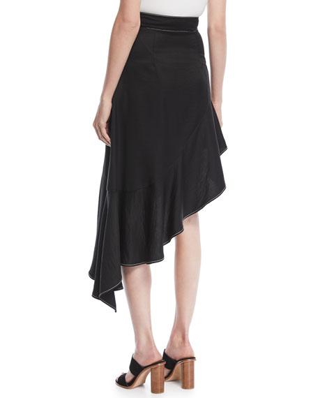 Ella High-Waist Asymmetric Flounce Skirt