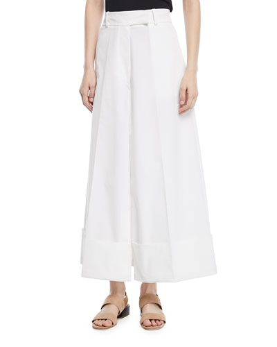 Cropped Pant-Skirt Trousers