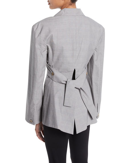Deconstructed Cotton Blazer