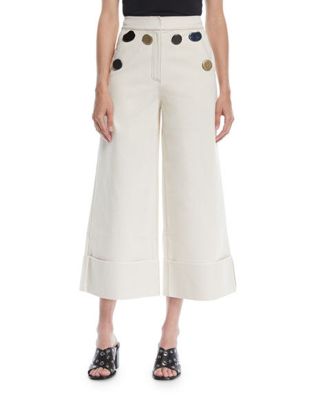 REJINA PYO Bailey Wide-Leg Cropped Trousers