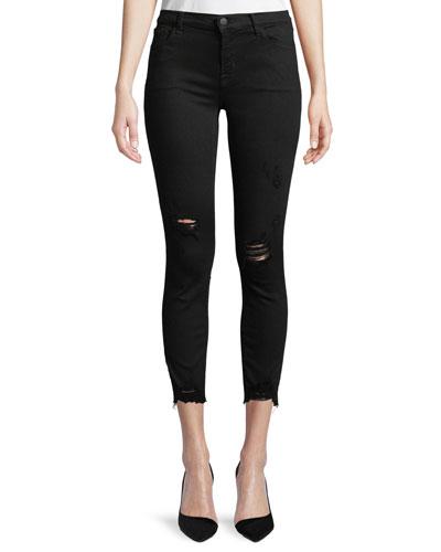 835 Mid-Rise Skinny-Leg Capri Jeans