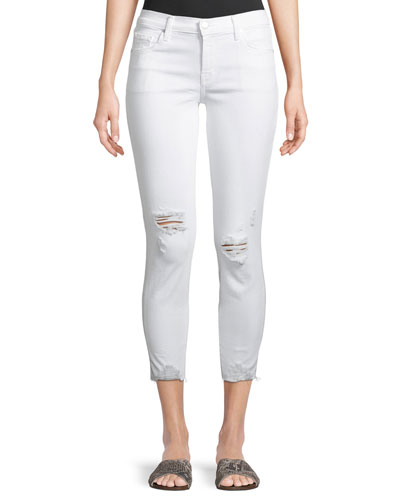 835 Mid-Rise Distressed Cropped Jeans