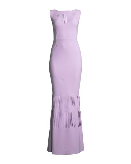 Renza Sleeveless Gown w/ Slit Details
