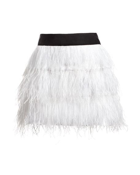 Ostrich Feather Miniskirt