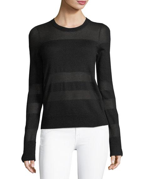 rag & bone/JEAN Vivi Crewneck Long-Sleeve Striped Sweater