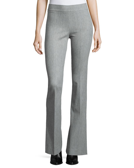 Avenue Montaigne Bellini Stretch Flannel Flared Pants