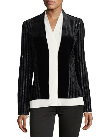 Nia Velvet Eyelet Blazer Jacket