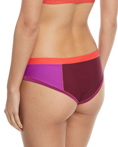 Brinkley Colorblocked Swim Bikini Bottoms
