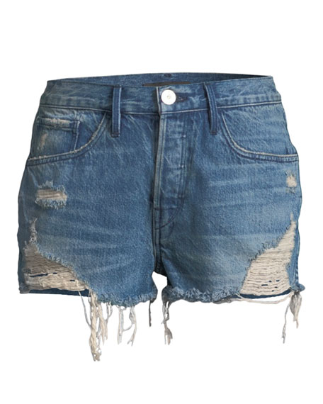 W4 Carter Distressed Denim Cutoff Shorts