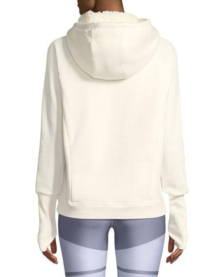 Frost Sherpa Hooded Pullover Sweatshirt
