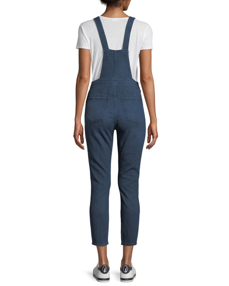 Ruby Skinny-Leg Denim Overalls