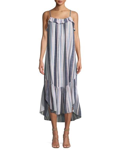 Rumer Sleeveless Striped Cotton Maxi Dress