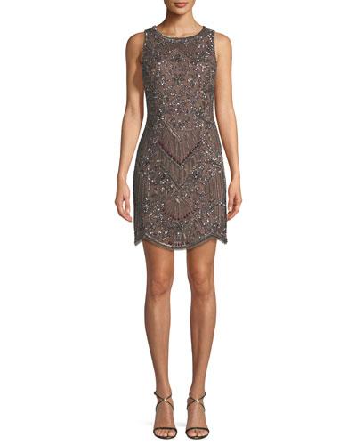 Embellished Mini Cocktail Dress