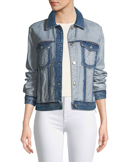 7 for all mankind Boyfriend Denim Jacket with