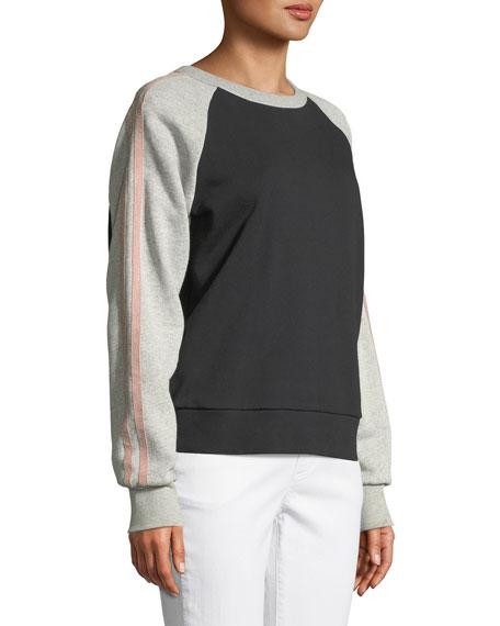 Crewneck Raglan Colorblocked Sweatshirt