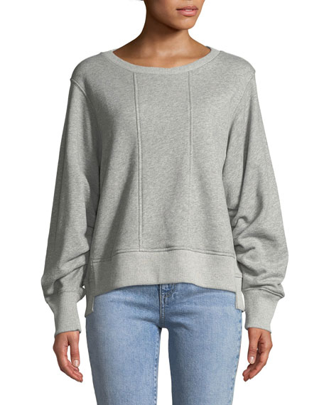 7 for all mankind Tucked-Sleeve Crewneck Sweatshirt