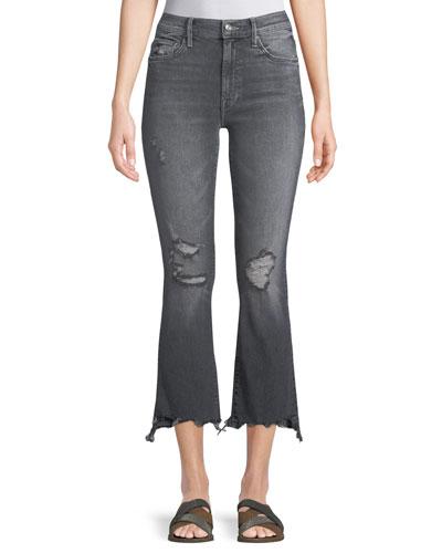 Insider Crop Step Chew Jeans