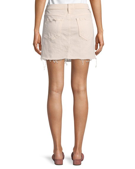 Vagabond Mini Fray Denim Skirt