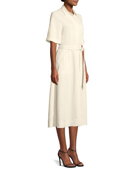 Carmen Short-Sleeve Belted Swing Dress