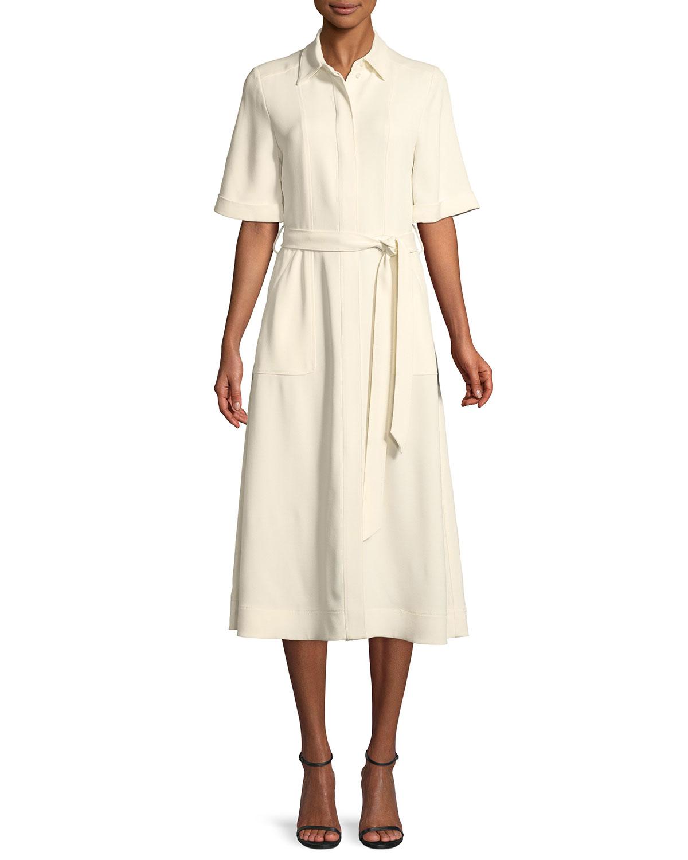 2626159620e4 Burberry Carmen Short-Sleeve Belted Swing Dress