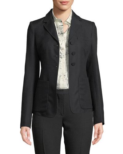Landow Twill Three-Button Jacket