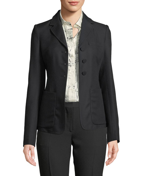 Burberry Landow Twill Three-Button Jacket