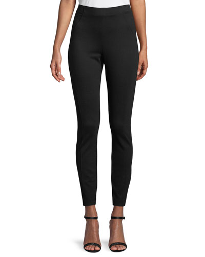 Trina High-Waist Double-Knit Pants