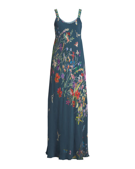 Linsu Maxi Printed Tank Dress