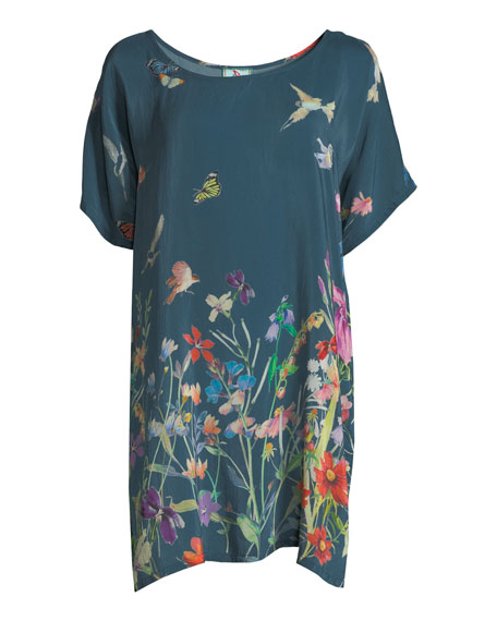 Longstar Hummingbird Tunic, Plus Size