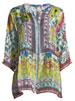 Theda Printed Tunic w/ Pompom Trim, Plus Size