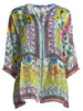 Image 3 of 3: Theda Printed Tunic w/ Pompom Trim