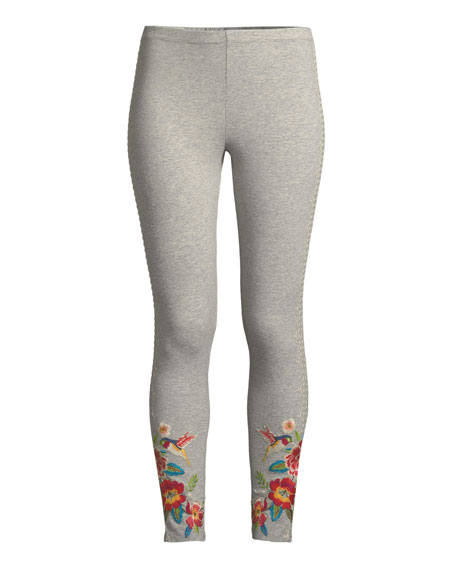 Samira Hummingbird Embroidered Leggings