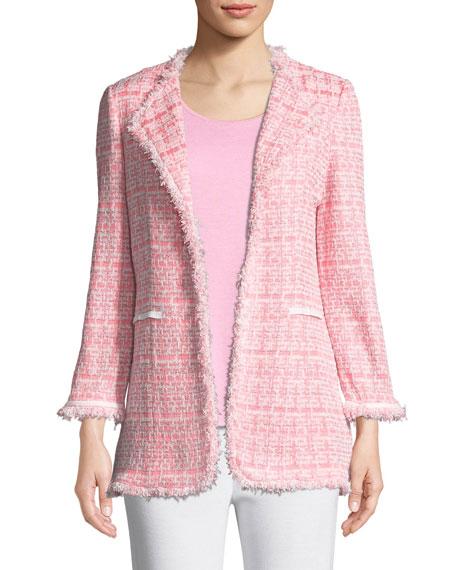 Tweed Topper Jacket w/ Fringe Trim