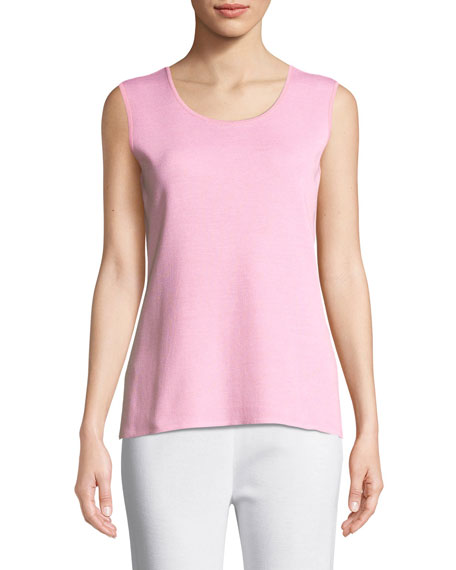 Scoop-Neck Melange Tank, Plus Size