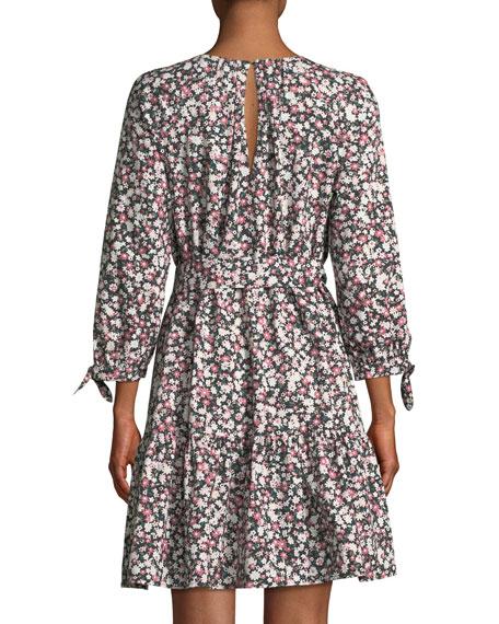 wildflower cotton poplin mini dress