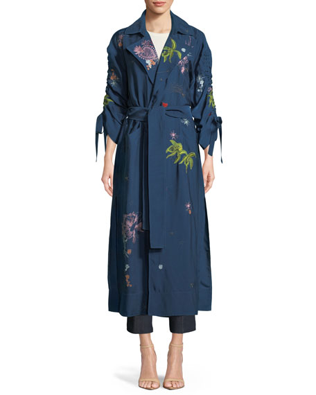 cinq a sept Aziza Floral-Embroidered Jacket