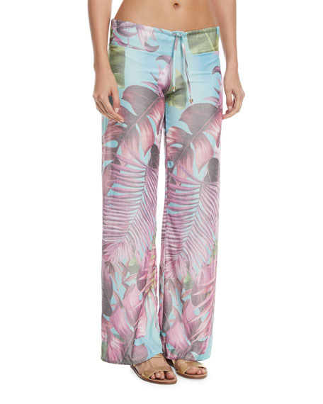 PilyQ Solid Ruched Swim Bottom, Lily and Matching