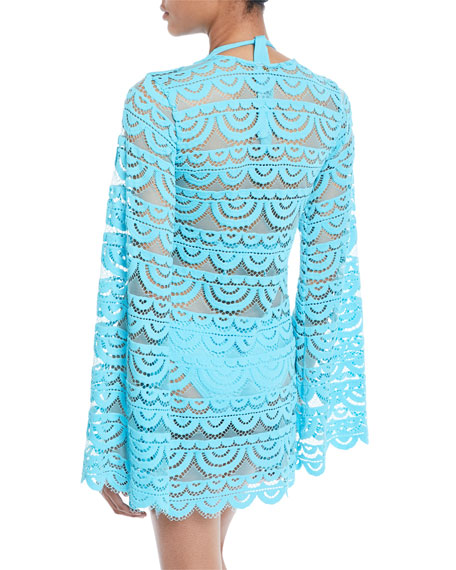 Noah Lace Long-Sleeve Coverup Tunic