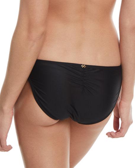 Tricolor Swim Bikini Bottom w/ Colorblock Front
