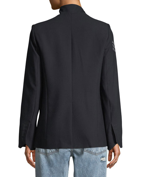 Very BIS Button-Less Embellished Jacket