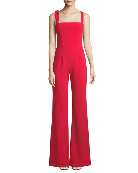 Dana Wide-Leg Jumpsuit w/ Bow