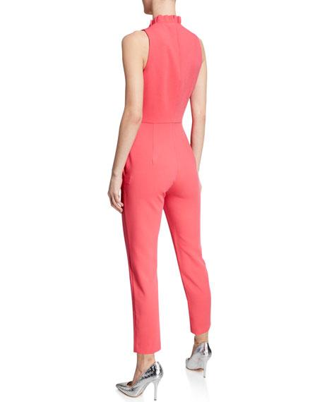 Antoinette Zip-Up Sleeveless Jumpsuit