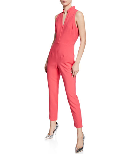 Antoinette Zip-Up Sleeveless Jumpsuit