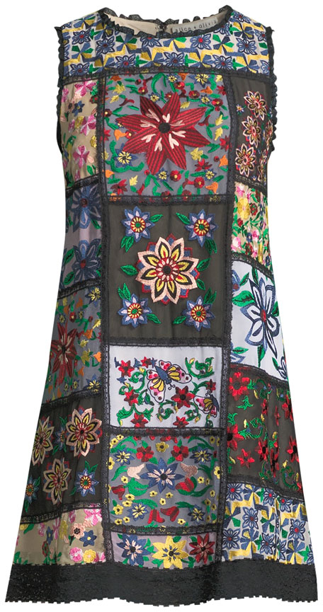 Marcelina Sleeveless Embroidered Tunic Dress