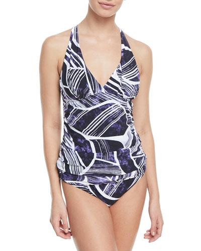 Bali Hai Printed Tankini Swim Top, Plus Size