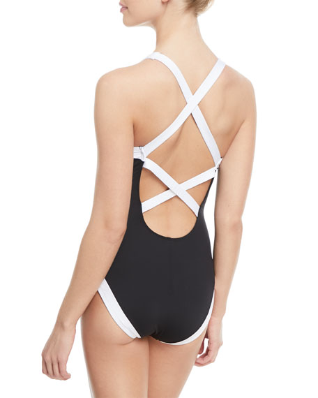 Modern Underwire X-Back One-Piece Swimsuit